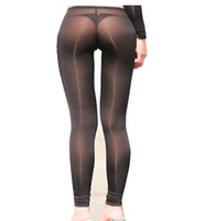 Women' s Sexy See Through Sheer Tight Pants Nylon Leggin...