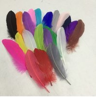 Wholesale 1000 PCS高品質美しいガチョウの羽15-20 cm / 6-8inches diy colorあなたは結婚式の中心部の装飾を選ぶ