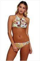 النساء خزان الأزهار اثنين من ملابس السباحة مثير السباحة الرقبة الرسن الملابس حاكم تصفح قطعة الشاطئ الحياة الصيف الإناث IMNSC
