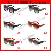 0083 Beliebte Sonnenbrille Luxus Frauen Marke Designer 0083s Quadratisch Sommer Stil Full Frame Top Qualität UV-Schutz Mischfarbe Kommen Sie mit Box