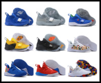 С Factory Factory Продают 2018 Мужчины Спортивный Пол Джордж Баскетбольные Обувь PG 2.0 Оптовая Спортивные Спортивные кроссовки Дарства Увеличить Баскетбол Обувь US7 US12