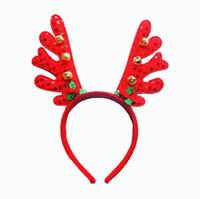 Sıcak Kırmızı Noel Çan Boynuzları Bandı Yetişkin Çocuk Parti Kişilik Bandı Sahne Noel Kafa Süslemeleri Ücretsiz Boyutu