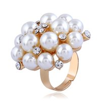 Luxury Pearl Ring For Lovers Birthday Valentine' s Day G...