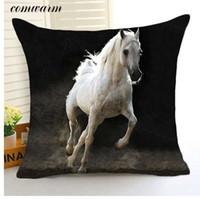 Comwarm Hipper Ausgezeichnete Giant Horse Serie Kissenbezug Polyester Kissenbezug Sofa Autositz Wohnzimmer Decor Kissenbezug