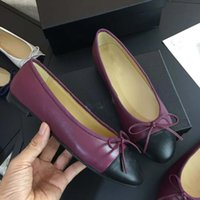atacado de luxo ballet shoes designer de luxo ballet shoes, ballet sapatos de fundo plano, tamanho 35-41