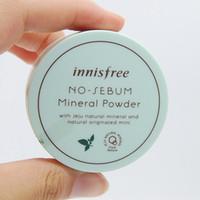حار كوريا العلامة التجارية الشهيرة Innisfree جودة عالية لا مسحوق الزهم المعدنية + طمس مسحوق التحكم النفط فضفاض مسحوق ماكياج dropshippping