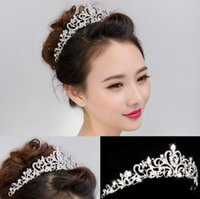 The bride wedding diamond tiara crown alloy hair styling wed...