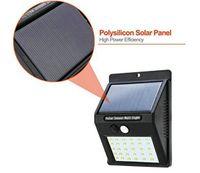 Impermeable 30 LED Paneles solares Potencia Potencia Sensor PIR Lámpara de pared Seguridad Ruta inalámbrica Patio Valla Luz nocturna Al aire libre