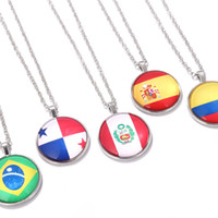 Russian World Cup Top 32 Pendant Necklace Metal Silver Plate...