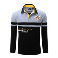 Winter Mens Polos Brand Letters Designer Polo shirts Long Sl...