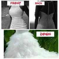 De haute qualité bijou cou sans manches robe de mariée usine sur mesure sirène robe de mariée mariage avec jupe à volants