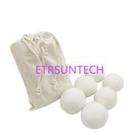 6 قطعة / الوحدة الصوف مجفف كرات تقليل التجاعيد reusable الطبيعي المنقي مكافحة ساكنة كبيرة الصوف العضوية مجفف الملابس الكرة QW8101