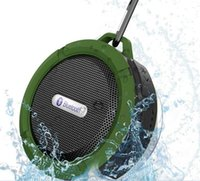 Bluetooth 3.0 беспроводной динамики водонепроницаемый динамик C6 с 5W сильный драйвер батареи длинной жизни