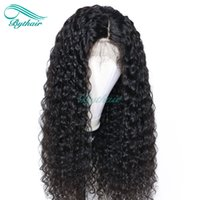 Bythair Lace Front Human Hair Wig Deep Curl Full Lace Wig Cu...