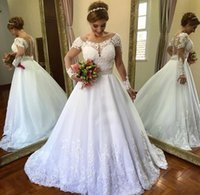 Vestido De Noiva 2019 Vintage Wedding Dress Lace A Line See ...