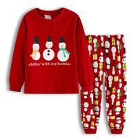 Новый стиль осень зима рождественские средние и маленькие мужчины и женщины детские носит хлопок детские нижние белья домой носить пижамы костюмы