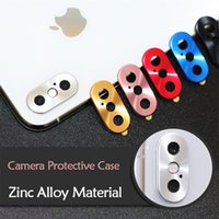 iphone x xs max xr 7 8 plus 카메라 렌즈 보호대 케이스 보호대 원형 금속 링 범퍼 렌즈 보호 링 커버 세이버