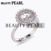 5 Pieces Dazzling Zircons Around Ring Settings 925 Sterling ...