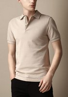 Supply Solid Men London Brit Polo Shirts Cotton Short Sleeve...