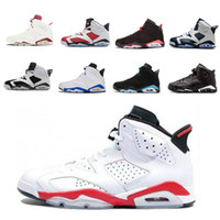 Hot 6 6s homens negros infravermelhos zapatillas tênis de basquete clássica Branca Infared Oreo UNC Olímpicos Sneakers homens esporte azul Carmine