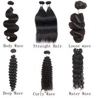 Prezzo di fabbrica A basso costo 10A Brasiliano peruviano peruviano indiano indiano capelli diritta corporeo profondo sciolto onda riccia onda riccia remy human haisses weaves 10 pz
