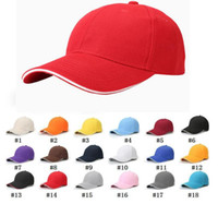 18 Colors Unisex Plain Baseball Cap Ball Solid Blank Visor A...