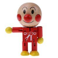 Детские Деревянные Игрушки Twistable Милый Японский Мультфильм Хлеб Человек Кукла Дети Дети Партнер Игрушки Деревянные Кукольные Фигурки Игрушки Действий