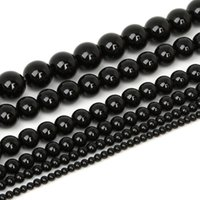 Wholesale Natural Stone Beads 3 4 6 8 10 12mm Loose Round Bl...