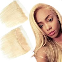 Brazilian Hair Blonde 613 Lace Closure Frontal with Baby Hai...