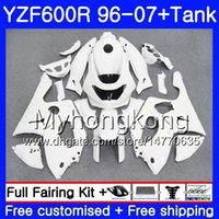 Corpo + serbatoio per YAMAHA YZF600R Thundercat 02 03 04 05 06 07 229HM.45 YZF 600R YZF-600R bianco lucido bianco 2002 2003 2004 2005 2006 2007 carenatura