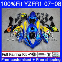 Injection Body For YAMAHA YZF R 1 YZF 1000 YZFR1 07 08 227HM...
