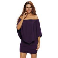 39909aed13d Wholesale clubwear plus size clothes online - 2017 Autumn Plus Size Women  Ruffle Party Club Dresses