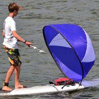 108 * 108см Складные Kayak Ветер парус лодки Wind Sail Paddle Board Sailing Canoe гребные лодки Прозрачное окно