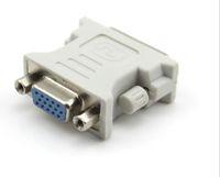 DVI DVI-I Man 24 + 5 24 + 1 PIN-kod till VGA Kvinnlig Video Converter Adapter Plug för DVD HDTV TV d llfa