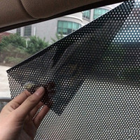 2PCS 38cm x 42cm 자동차 자동차 액세서리 커튼 바람막이 PVC 스티커 태양 그늘 자외선 보호 측면 창 필름