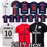 Paris Saint Germain PSG camisa de futebol 7 Mbappe 6 Verratti Cavani DANI  ALVES NEYMA JR 2ee23b7fd9ad5
