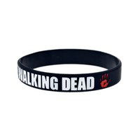 Hot Sell 1PC The Walking Dead Silicone Wristband Black Brace...