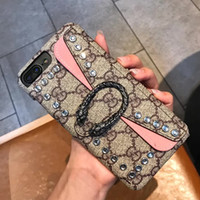 For Iphone 8 8plus Fashion Top Luxury Phone Case Leather Car...