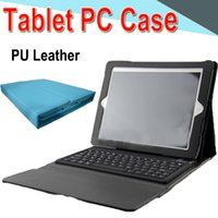 10 inch Bluetooth Keyboard PU Leather Case with Stand Holder...