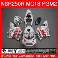 Кастрол красный комбинезоны для Honda NSR250R MC16 MC18 PGM2 NS250 88 89 78HM.44 NSR 250 R NSR250 R RR NSR250RR NSR 250R 88 89 1988 1989 комплект обтекателя