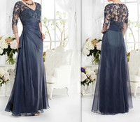 Vintage Navy Blue Mother Of The Bride Groom Dress 3 4 Sleeve...