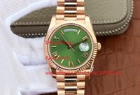 Top quality Luxury Quality Watch 18K Rose Gold Green Roman D...