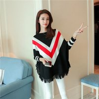 New Autumn Women' s Bat- wing Sleeve Poncho Sweater Lady&...