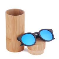 Erkekler ve kadınlar için güneş gözlükleri polarize yeni moda ahşap güneş gözlüğü stokta yüksek kaliteli bambu çerçeve