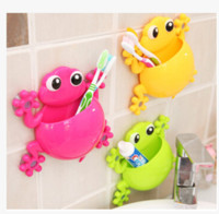 Kids Cute Wall Mount Stand Toothbrush Toothpaste Holder Orga...