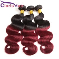 Highlight 1b 99j Body Wave Mink Malaysian Hair Dark Roots Bu...