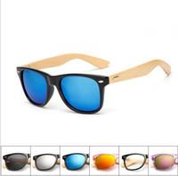 15 ألوان ريترو الخشب نظارات الرجال الخيزران مكبرة النساء ماركة تصميم الرياضة نظارات الذهب مرآة النظارات ظلال نظارة oculo uv400 10 قطعة