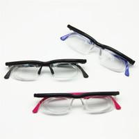 Adlens Focus Lunettes de lecture réglables Myopia Lunettes -6D à + Dioptries 3D Grossissant la force variable