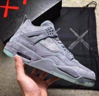 KAWS x 4 4s XX Kaws Grey White Glow Men Basketball Shoes 4s ...
