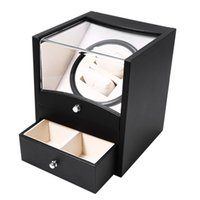Watch Box Auto Rotation Watch Winder Box Two Grids Transpare...